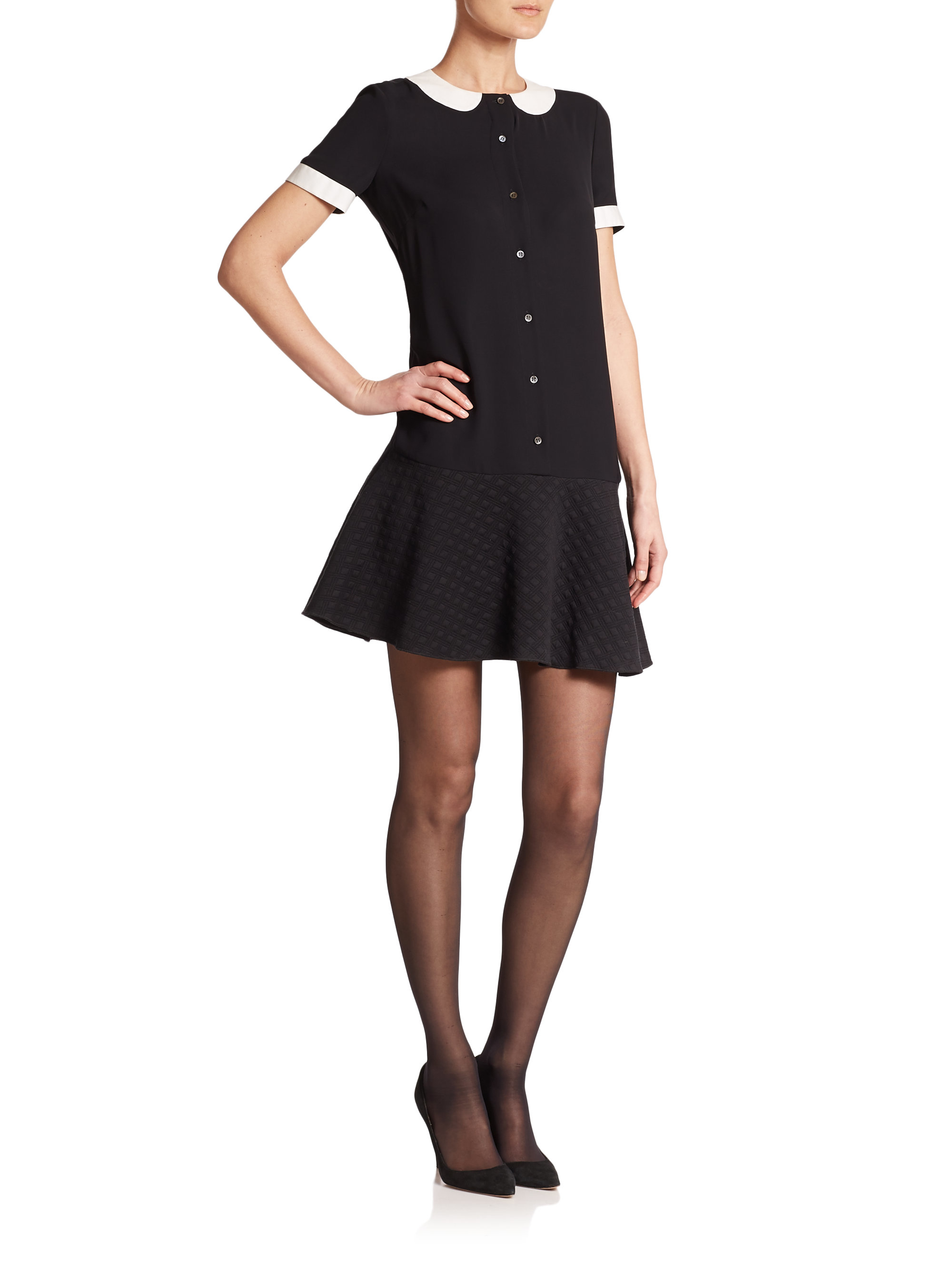 Black dress with white peter pan collar - Gallery