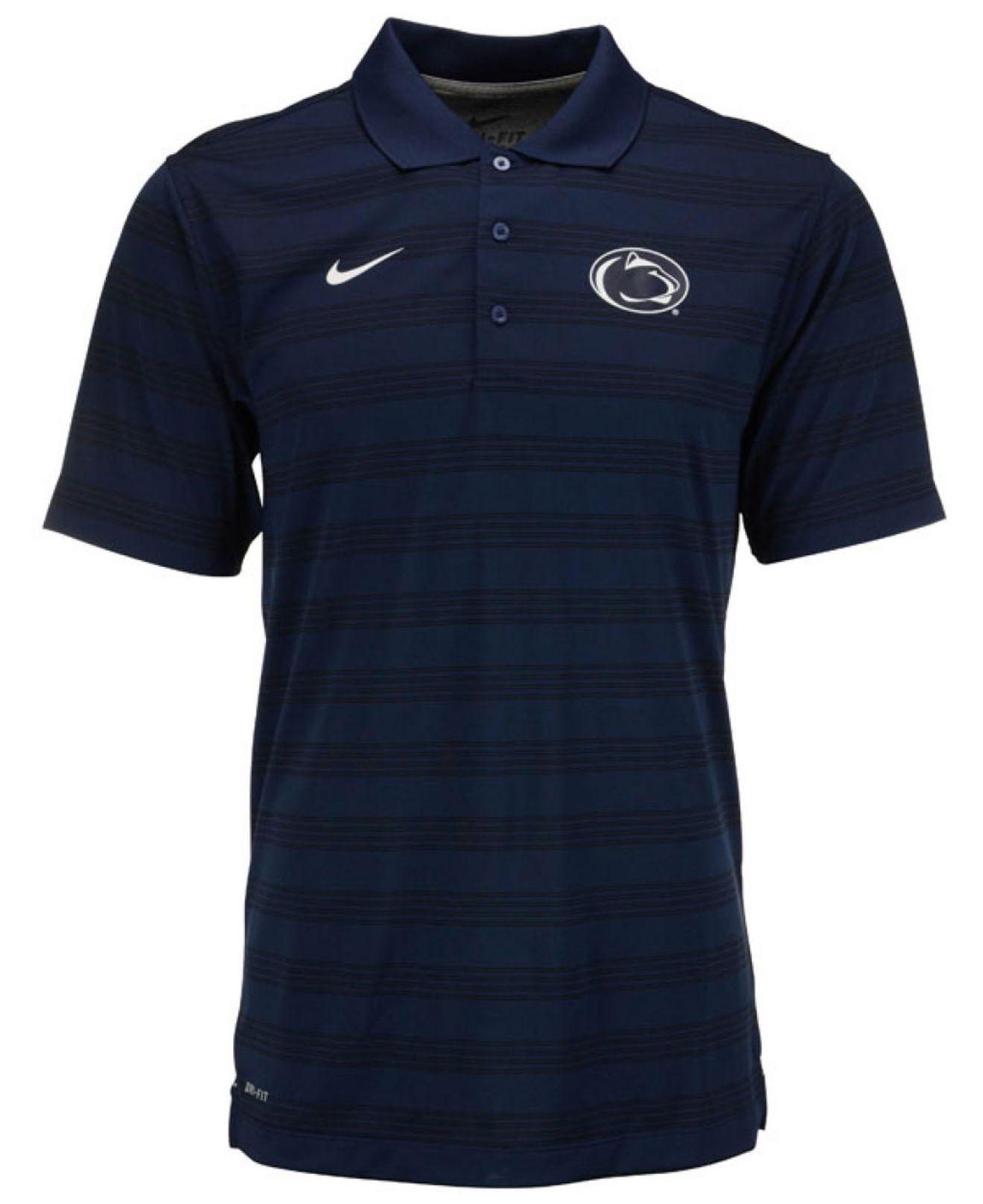 Nike Men 39 S Penn State Nittany Lions Dri Fit Preseason Polo