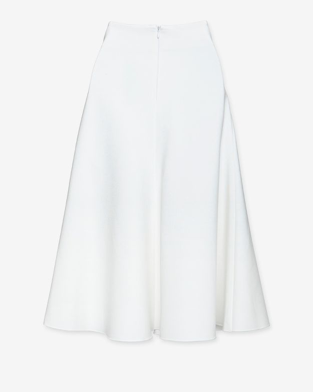 05ccf44ca55 Lyst - Nicholas Ponte Knit Midi Flare Skirt in White