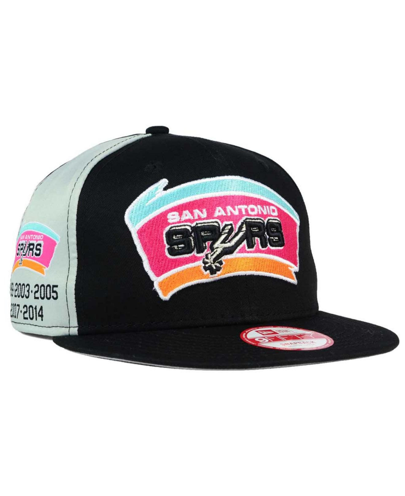 a07f2a1d7 ... free shipping lyst ktz san antonio spurs panel pride 9fifty snapback  cap in f8f28 80e6a