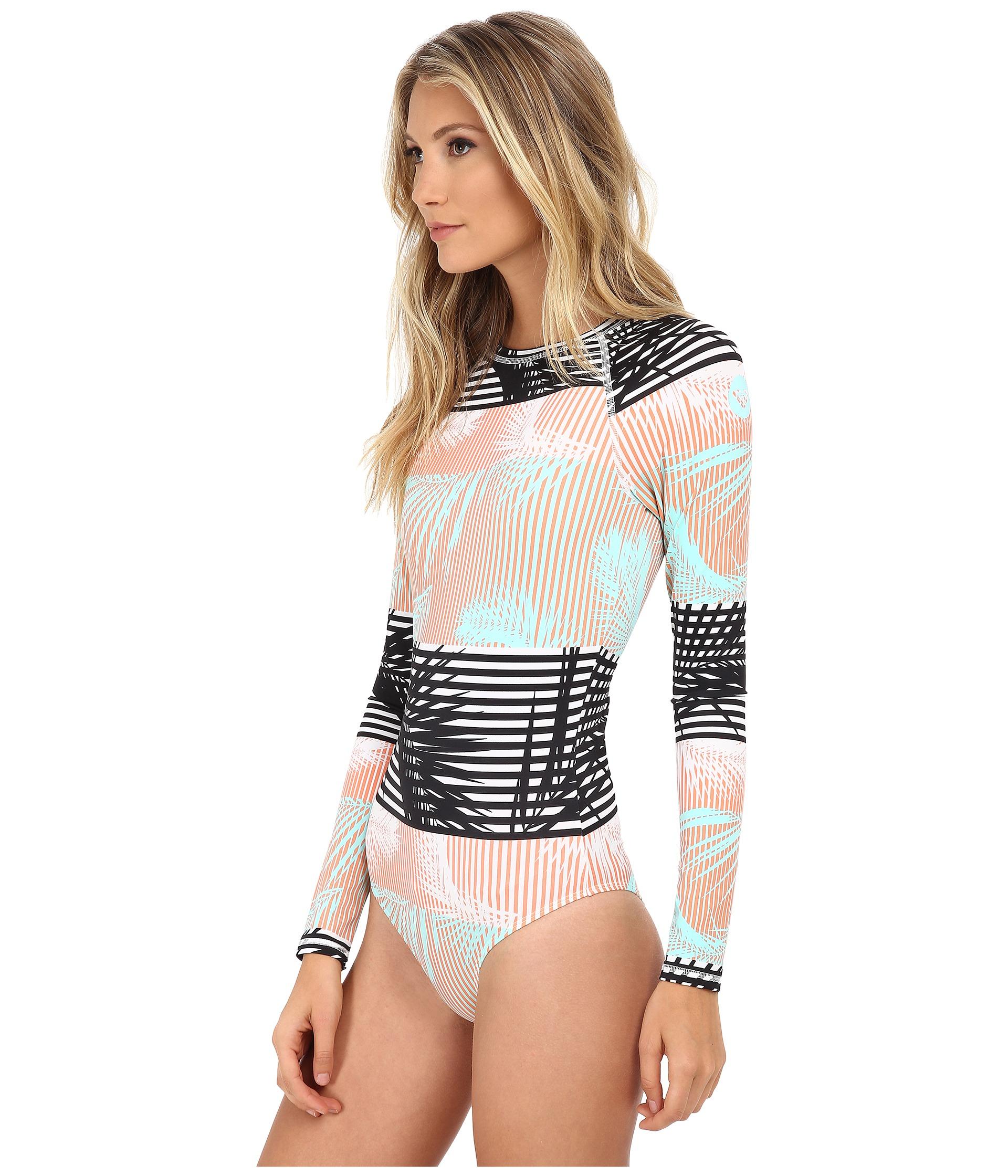 ba70734028ed7 Roxy Pop Surf Long Sleeve One-piece in Pink - Lyst
