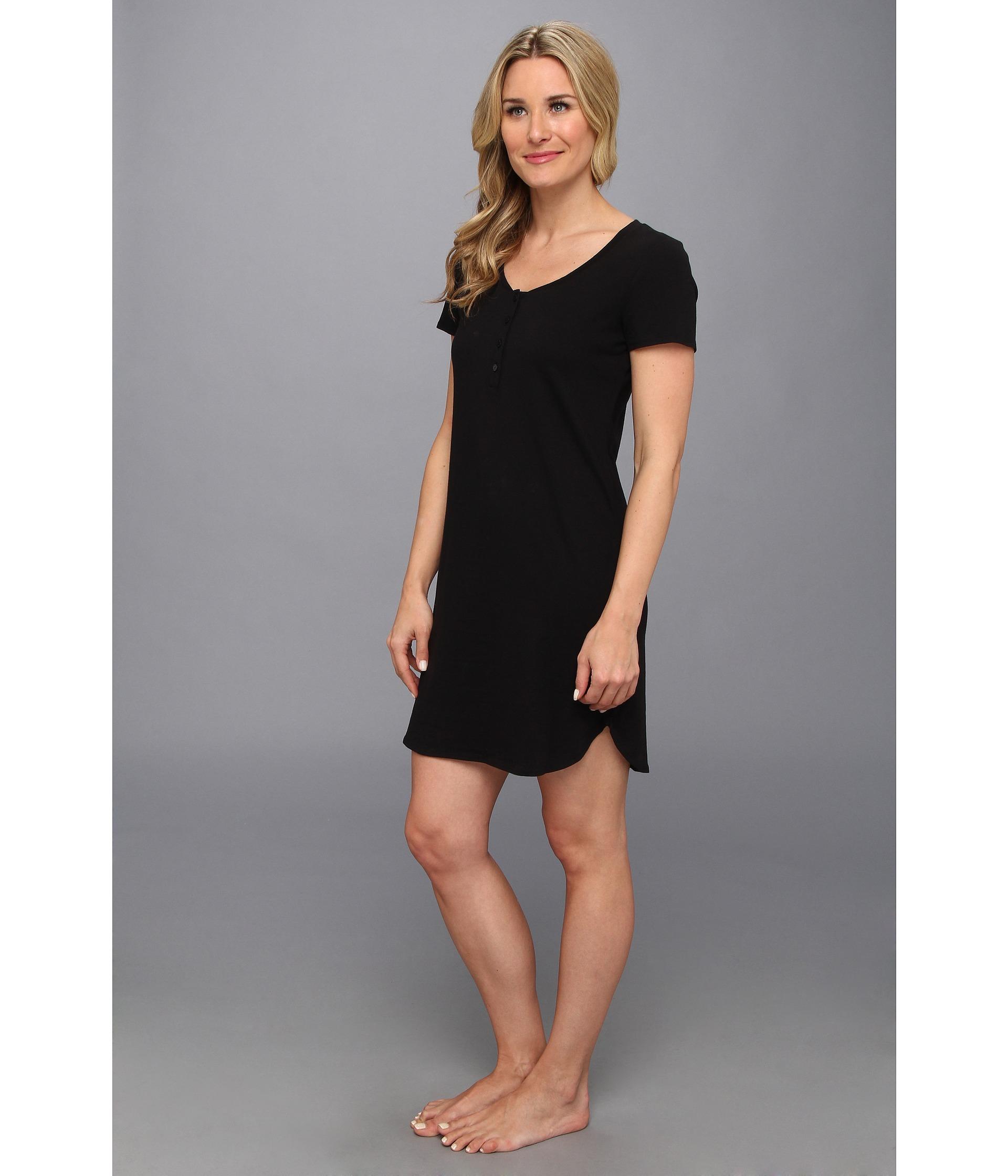 c80bc92bfb Lyst - Calvin Klein Ss Nightshirt in Black