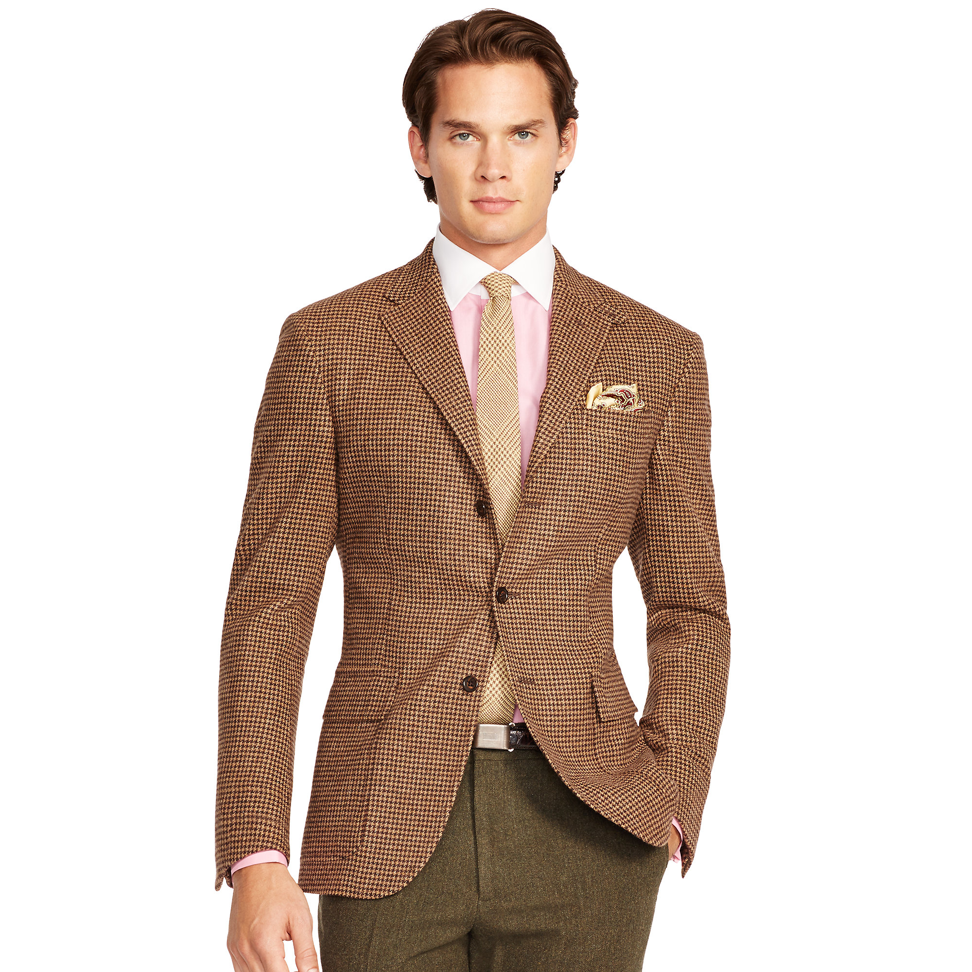 Lyst polo ralph lauren polo houndstooth sport coat in for Sport coat with t shirt