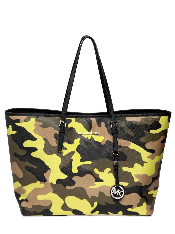 d8f9badb11230 ... Michael Michael Kors Camouflage Printed Tote Bag - Lyst ...