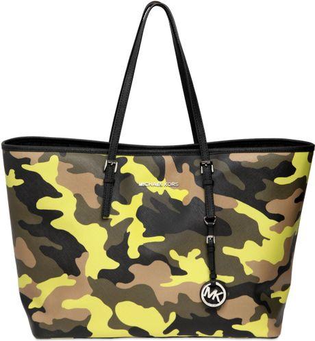 Michael Michael Kors Camouflage Printed Tote Bag In