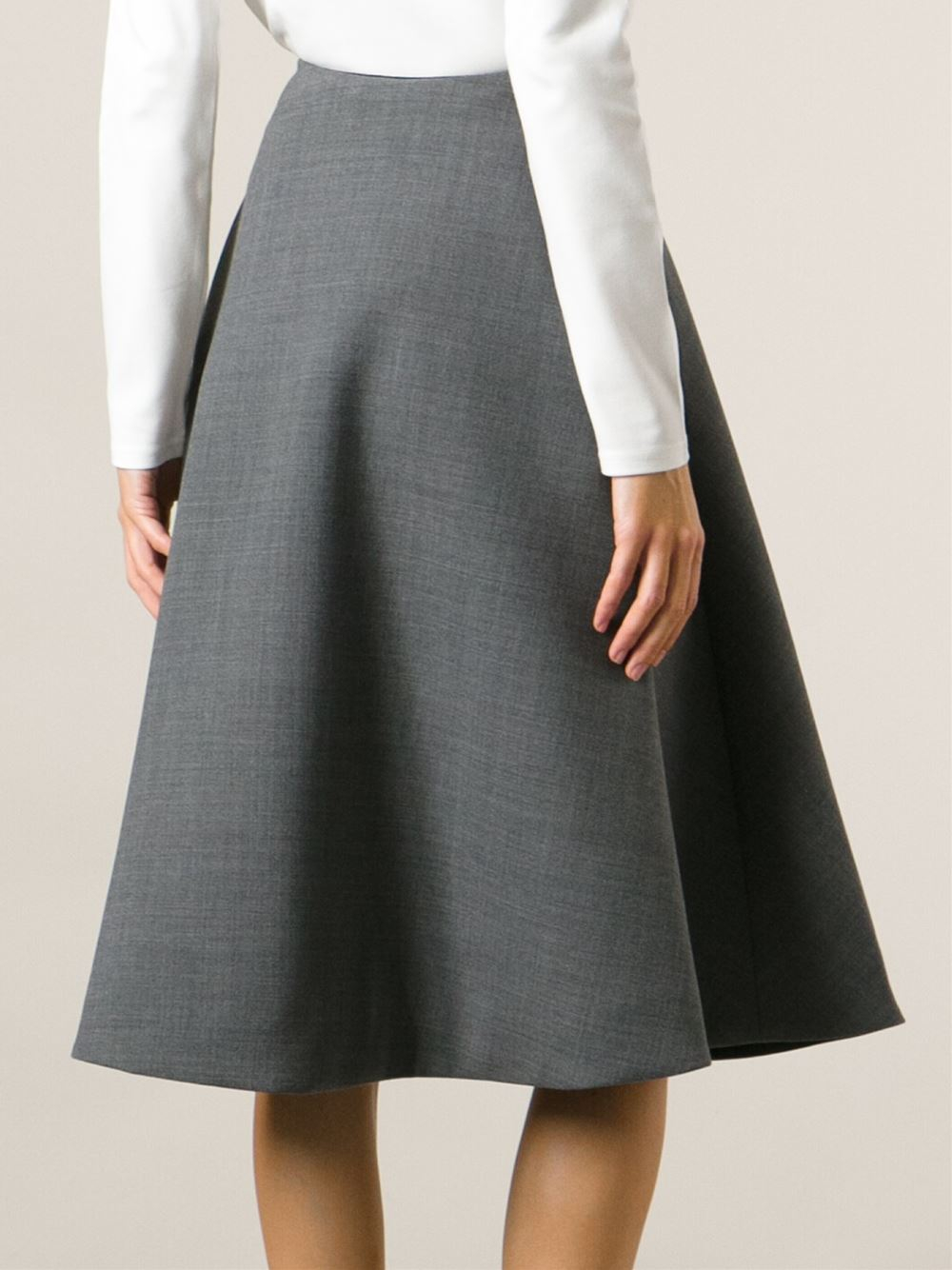 Marc by marc jacobs A-Line Midi Skirt in Gray | Lyst