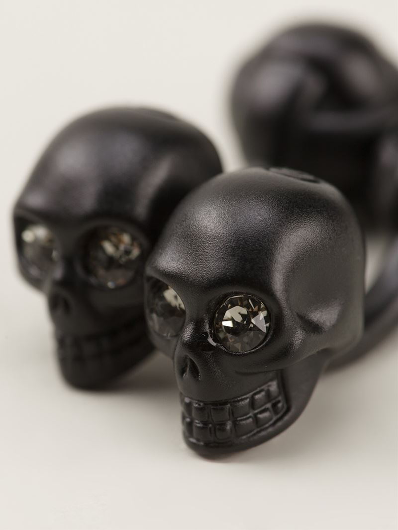 Alexander McQueen skull cufflinks - Black fny5fk93P