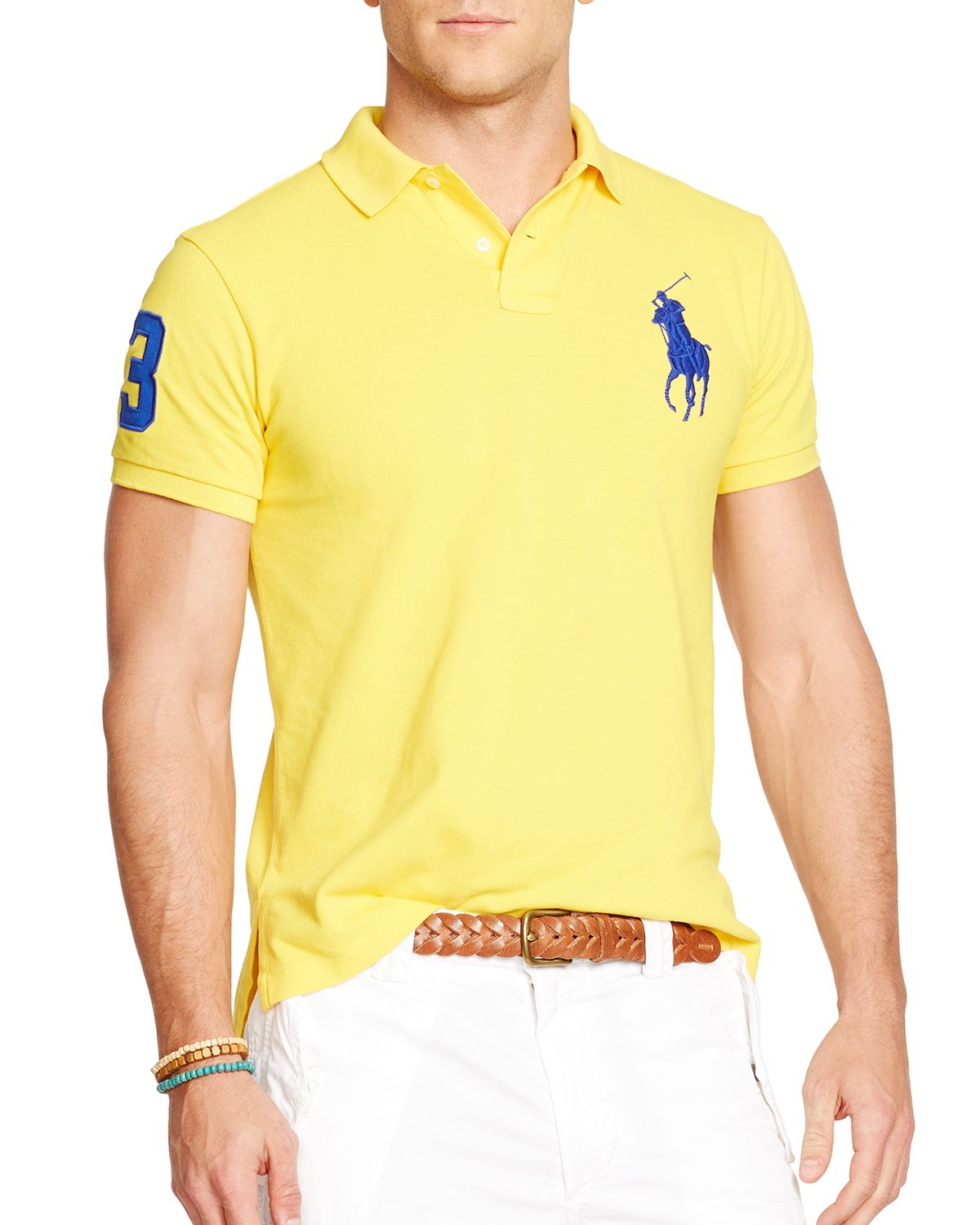 Ralph Lauren Polo Custom Fit Big Pony Mesh Polo Shirt