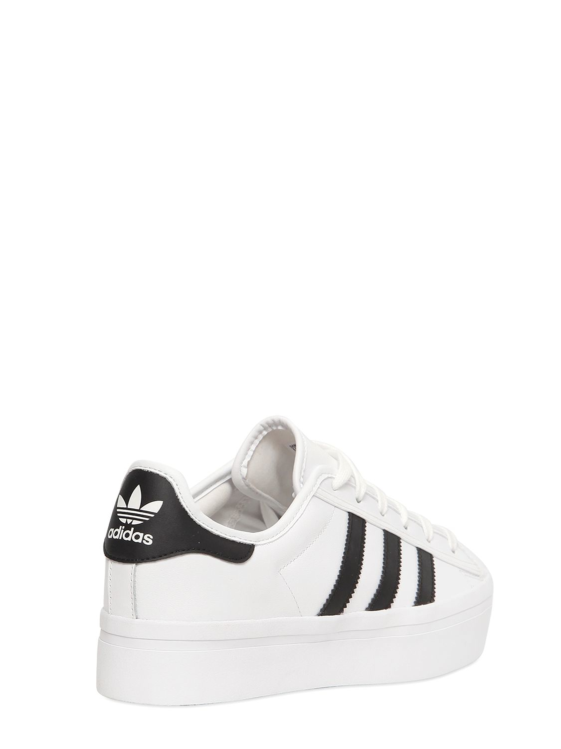 1f78127b70a0 Lyst - adidas Originals Superstar Platform Leather Sneakers in White