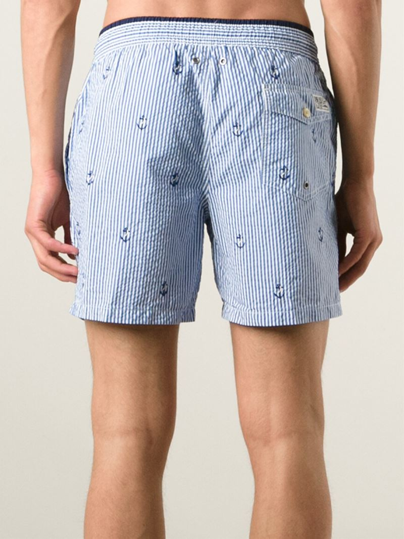 9cd971655b shopping lyst polo ralph lauren embroidered anchors swim shorts in blue for  men 9928b 1daf4
