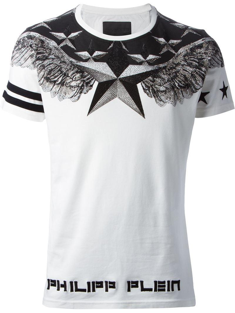 lyst philipp plein 39 universe 39 t shirt in white for men. Black Bedroom Furniture Sets. Home Design Ideas