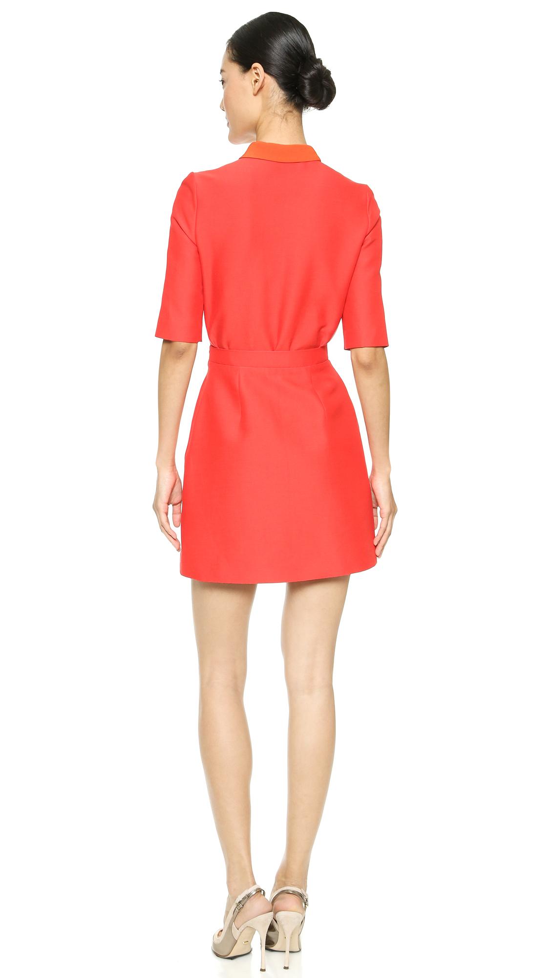 Ralph Lauren Rosy Mesh Polo Sexy Collar Dress