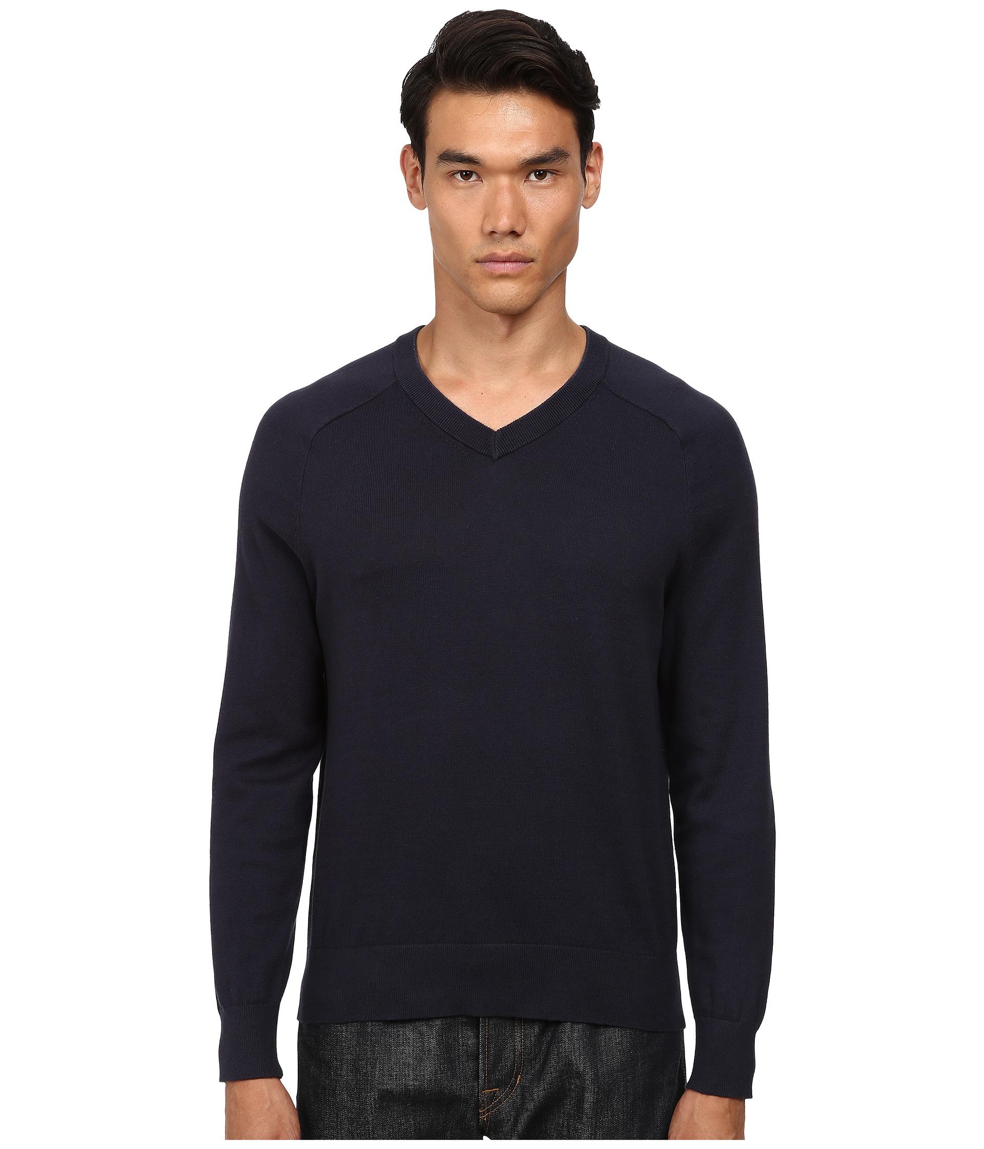 Jack spade Dexler Cotton V-neck Sweater in Blue for Men | Lyst