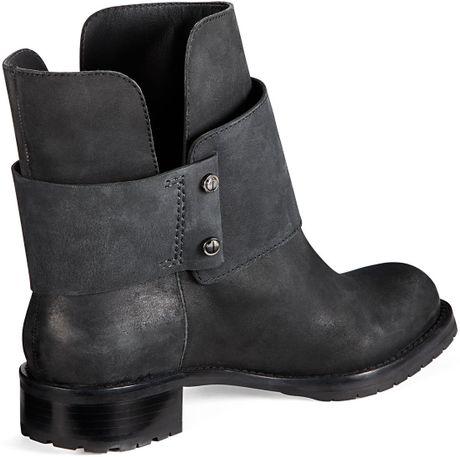 Amazing  Boots  Ash  Ash Black Leather TITAN Women39s Ankle Biker Boot
