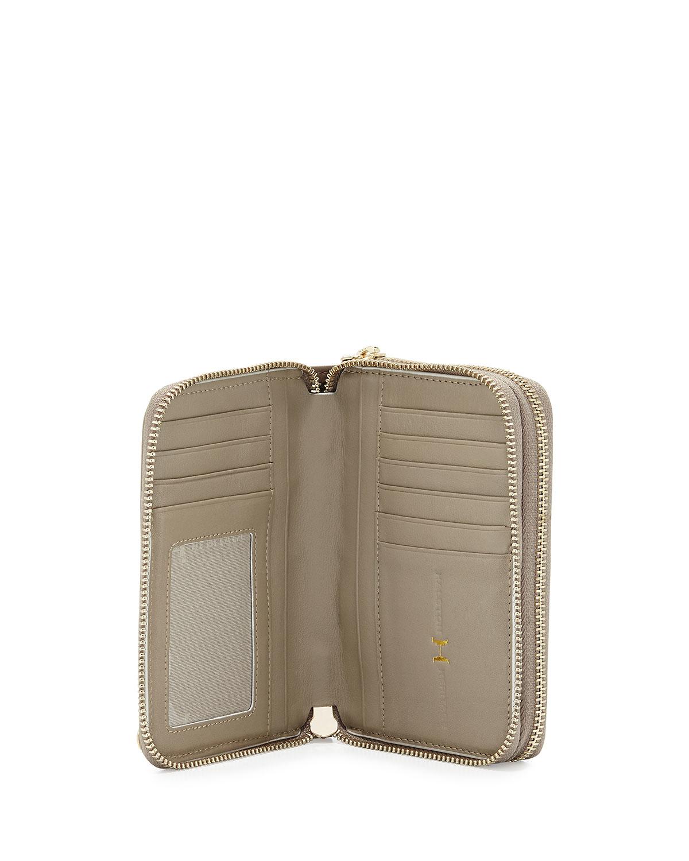 Women'S Italian Leather Double Zip Wallets 40