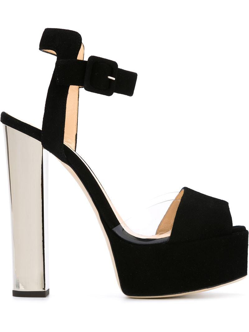 e6ff6201f9f607 Giuseppe Zanotti  betty  Platform Sandals in Black - Lyst