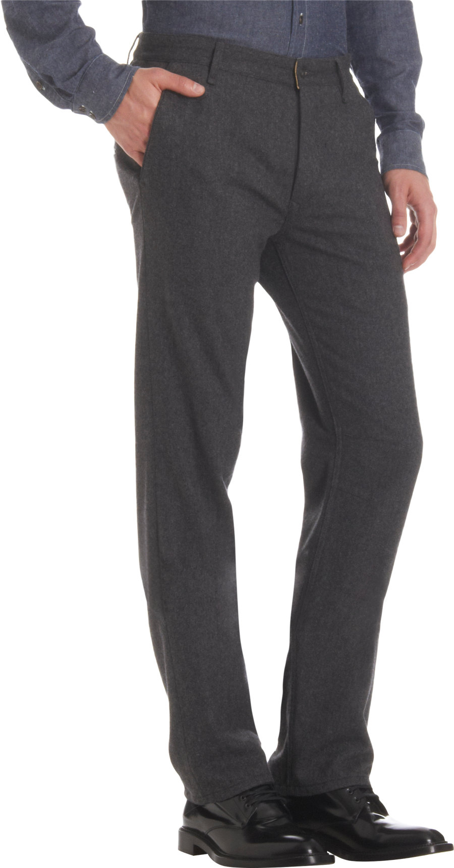 Rag Amp Bone Herringbone Slim Straight Pants In Gray For Men