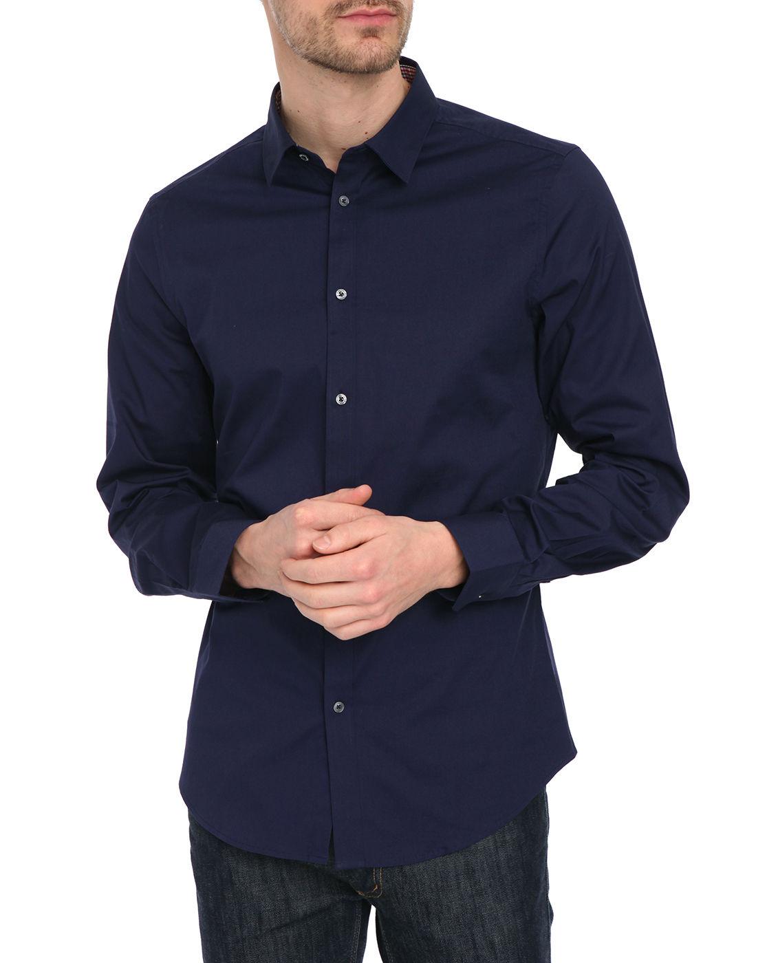 Ben sherman men 39 s stretch dress shirt black us size 17 5 for 17 33 shirt size