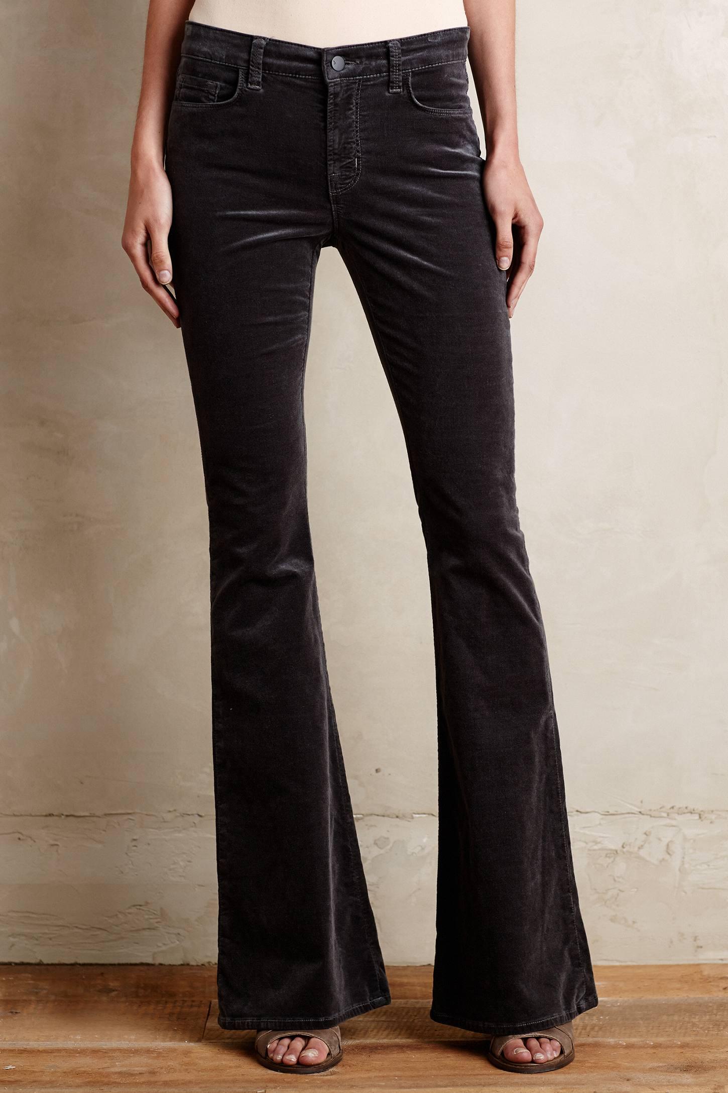 J brand Martini Velvet Flare Jeans in Gray | Lyst