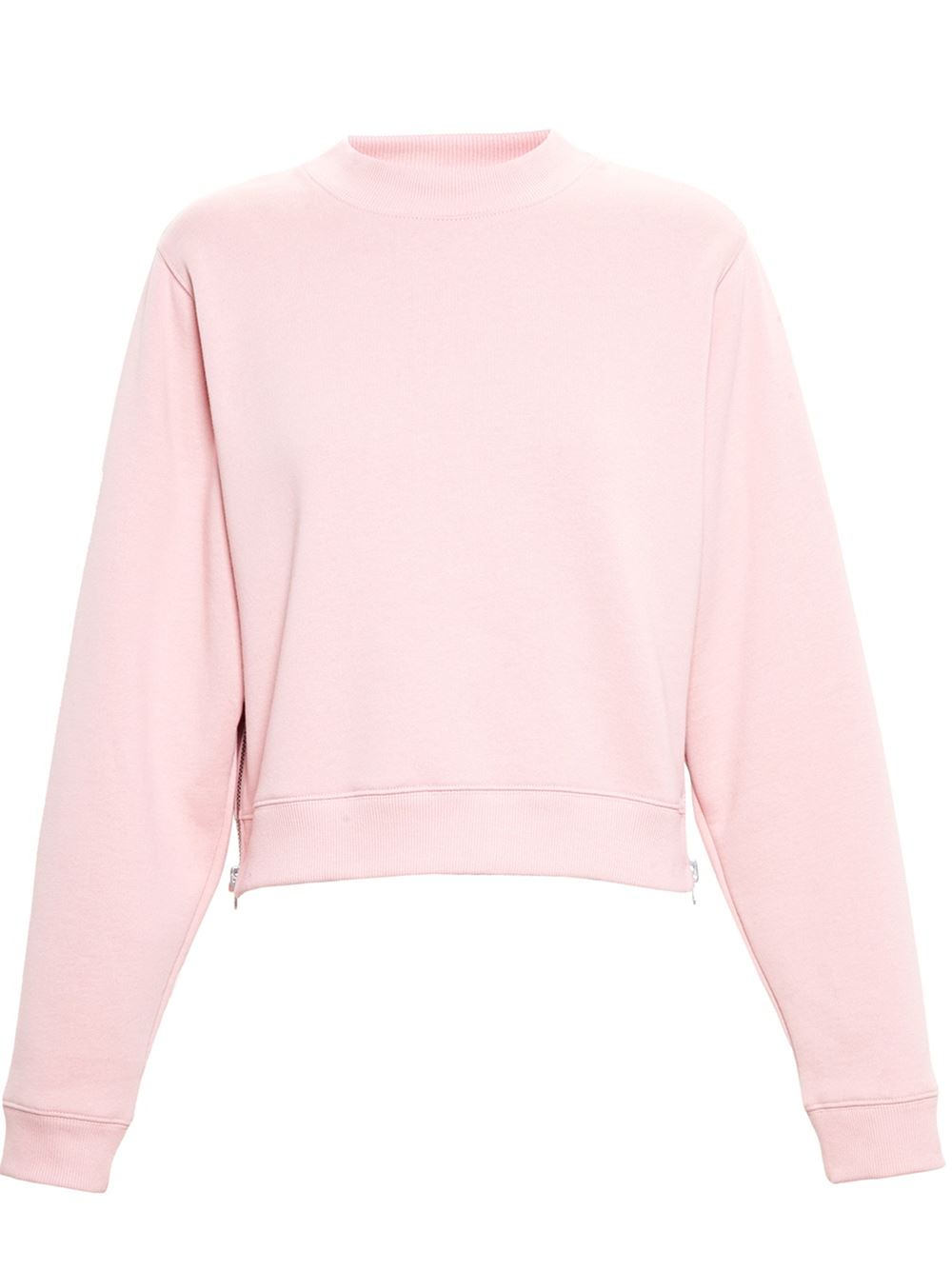 Acne studios Bird Cropped Sweatshirt in Pink | Lyst