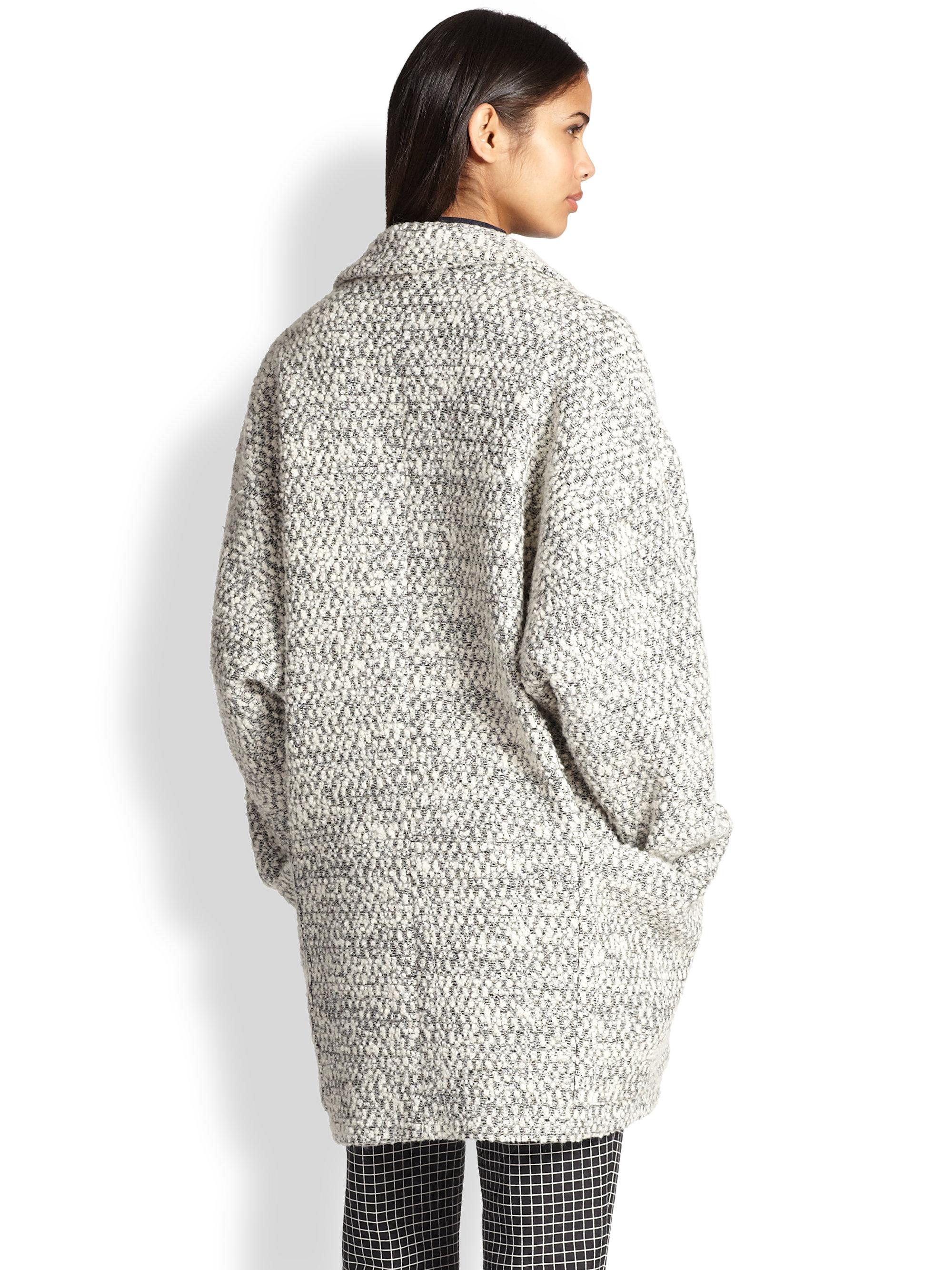 1ed03c649411 Lyst - Apiece Apart Oversized Bouclé Cocoon Coat in Gray