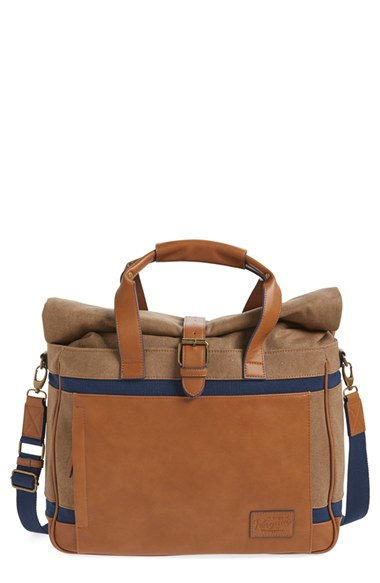 7325238fba Lyst - Original Penguin Canvas   Leather Duffel Bag in Brown for Men