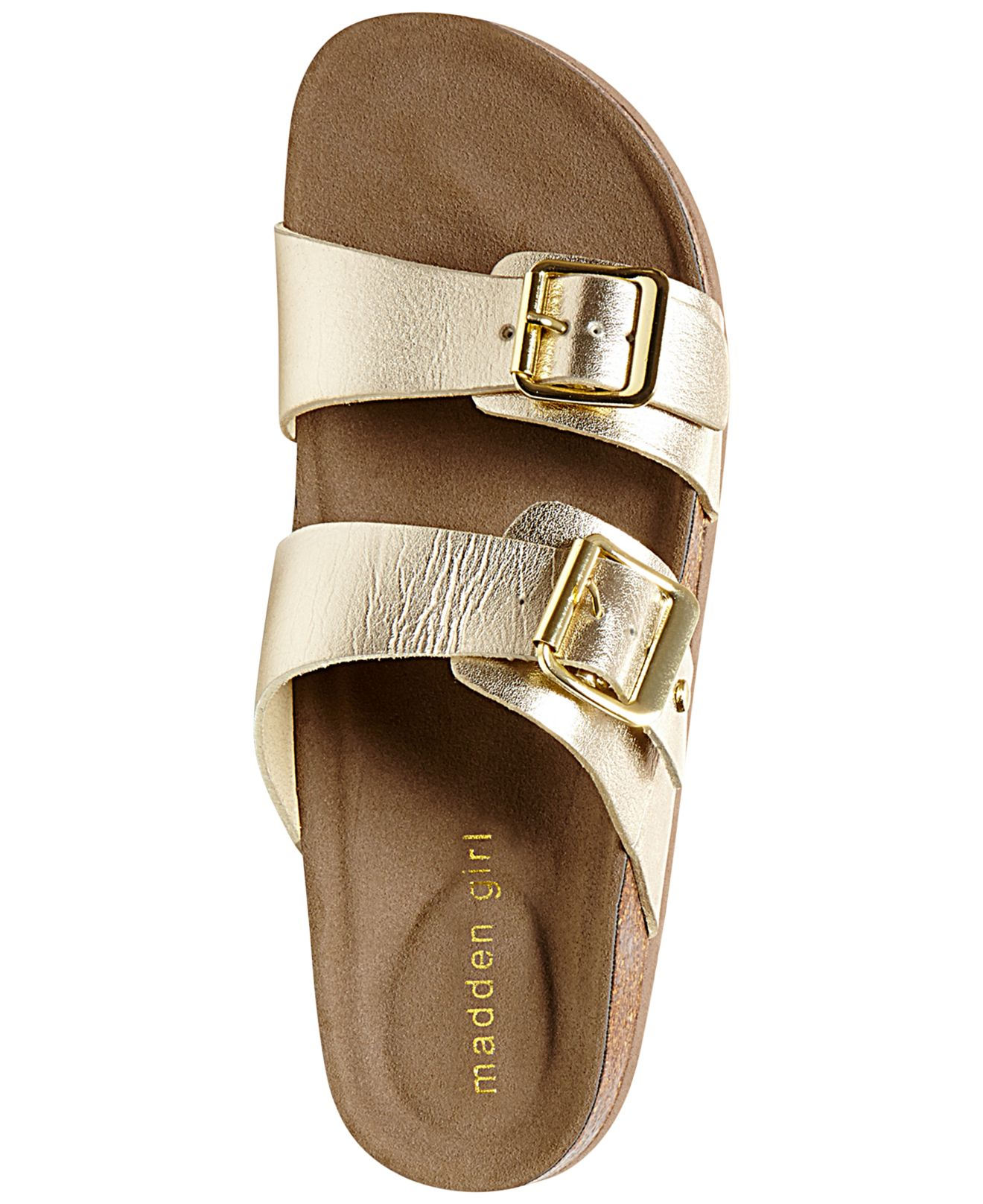 336146be8f8f Lyst - Madden Girl Brando Footbed Sandals in Metallic