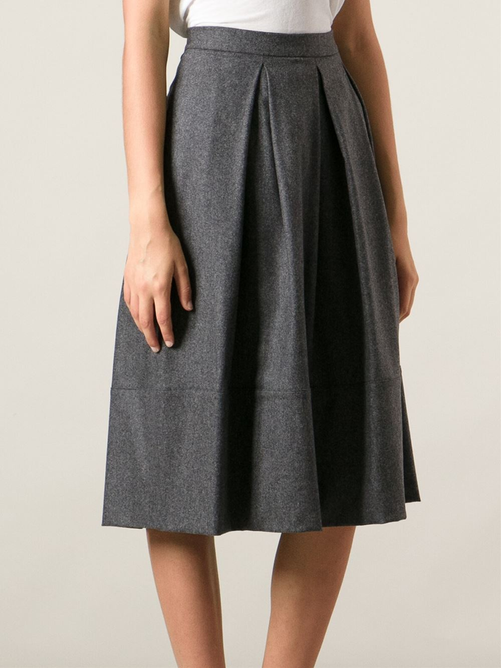 Societe anonyme Flared Skirt in Gray | Lyst