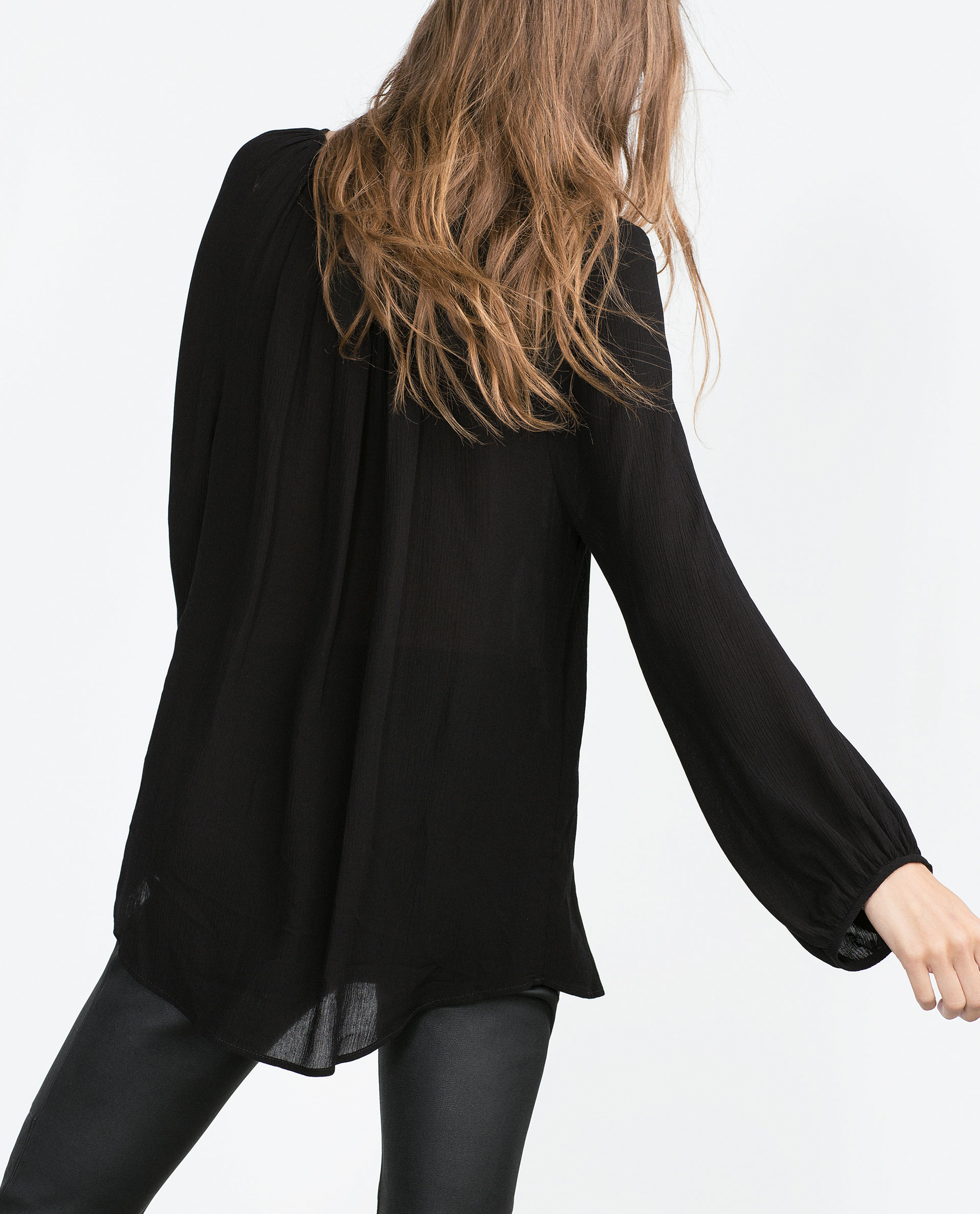 Zara Black Lace Blouse 10