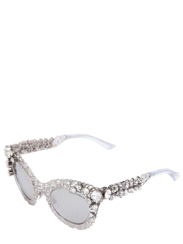 fd56f8f7517 Dolce Cat Gabbana In Lyst Embellished Sunglasses Swarovski Eye amp  1wxWHzT