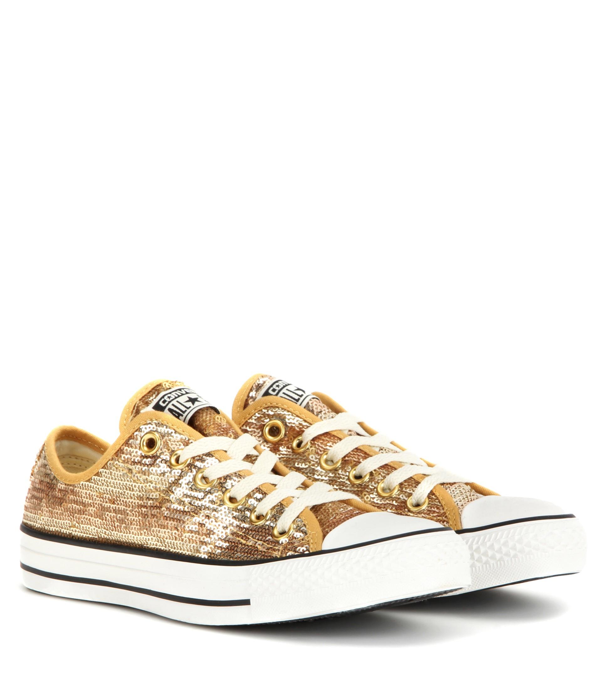 converse gold glitter