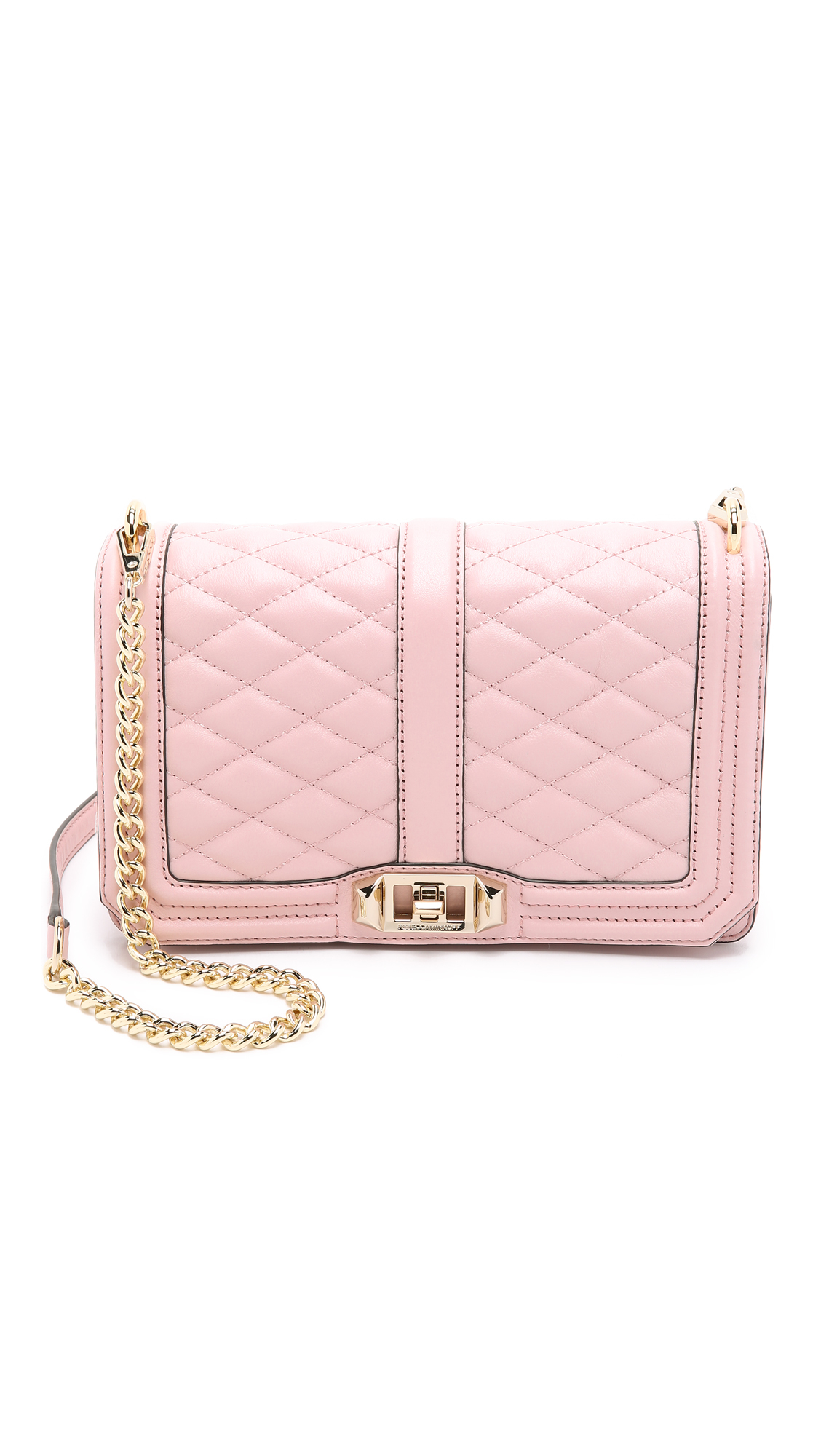 Lyst - Rebecca Minkoff Love Cross Body Bag in Pink 91fc02b3b1b8