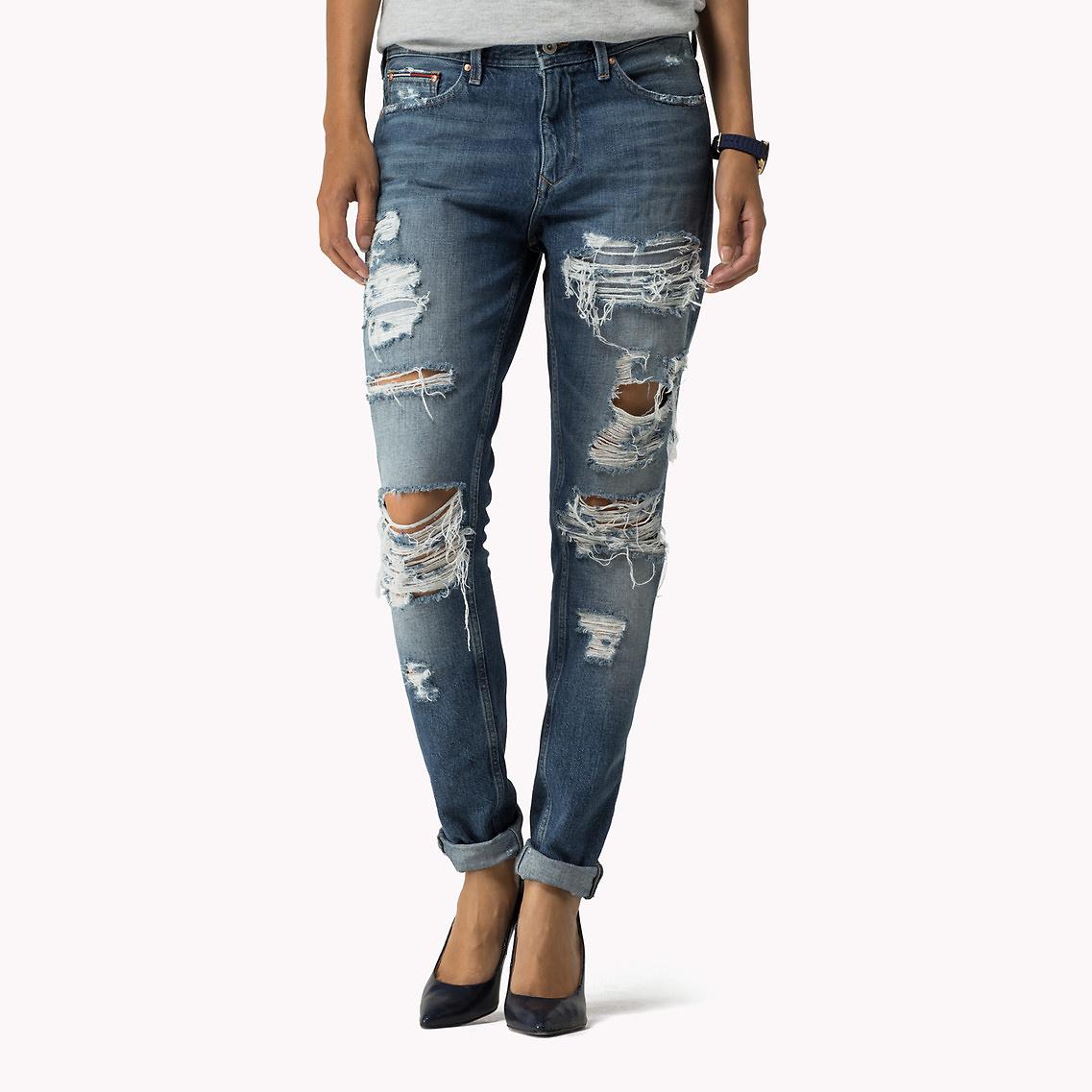68c7da69033d6 Tommy Hilfiger Girlfriend Jeans in Blue - Lyst