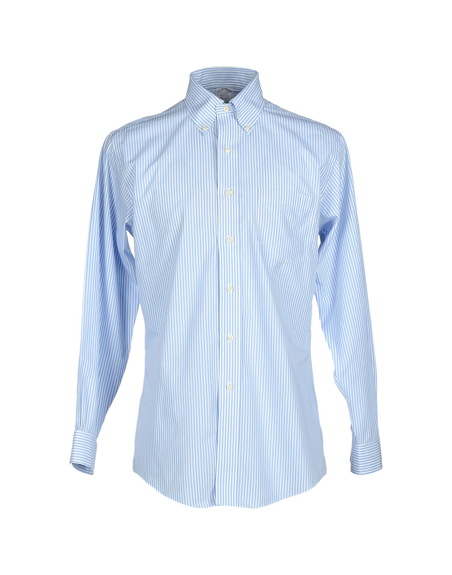Lyst brooks brothers shirt in blue for men for Brooks brothers tall shirts