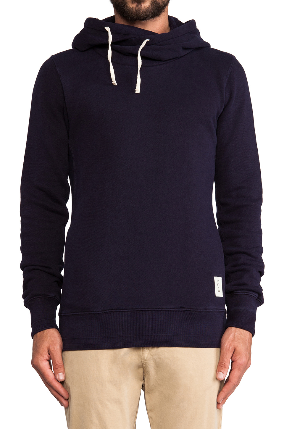 Lyst - Scotch & Soda Home Alone Twisted Hoodie in Blue for Men