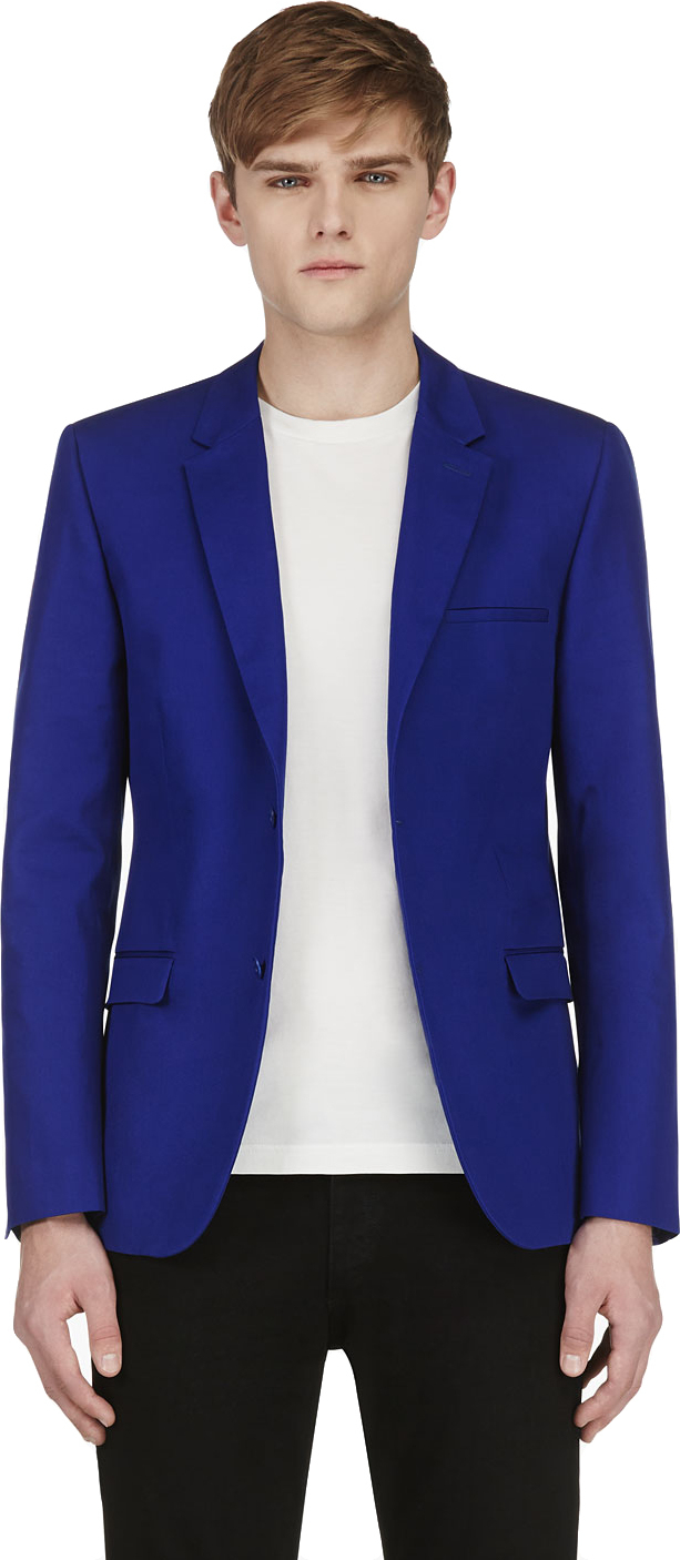 Lyst Calvin Klein Royal Blue Blazer In Blue For Men