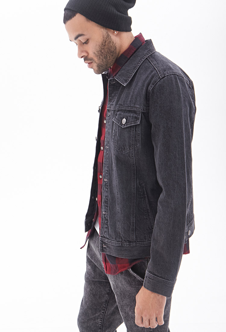 Forever 21 Classic Denim Jacket in Gray for Men | Lyst