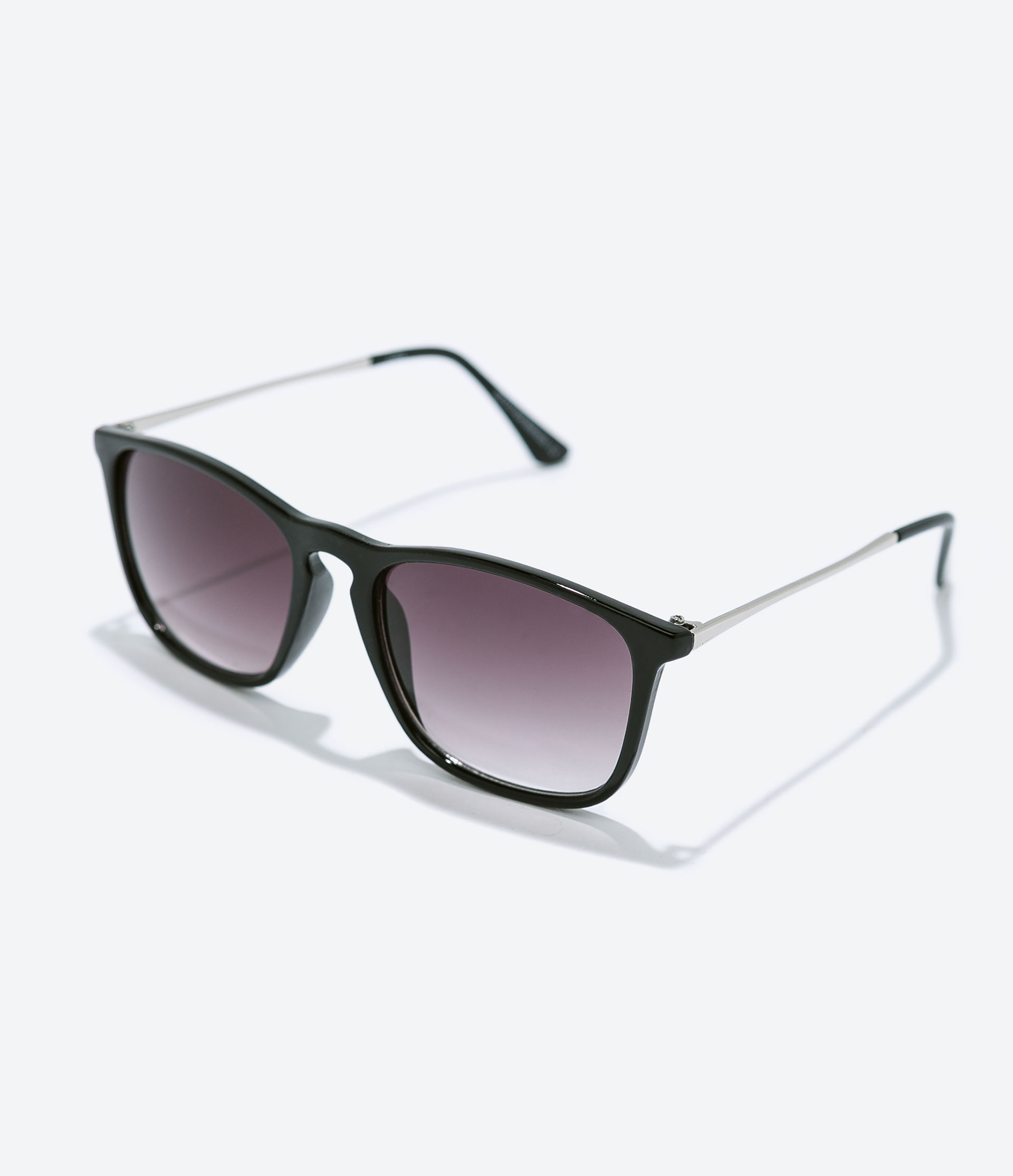 Zara Black Resin Sunglasses in Black for Men Lyst