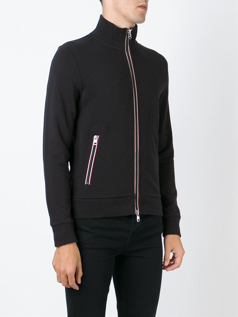 moncler trim zip hoodie