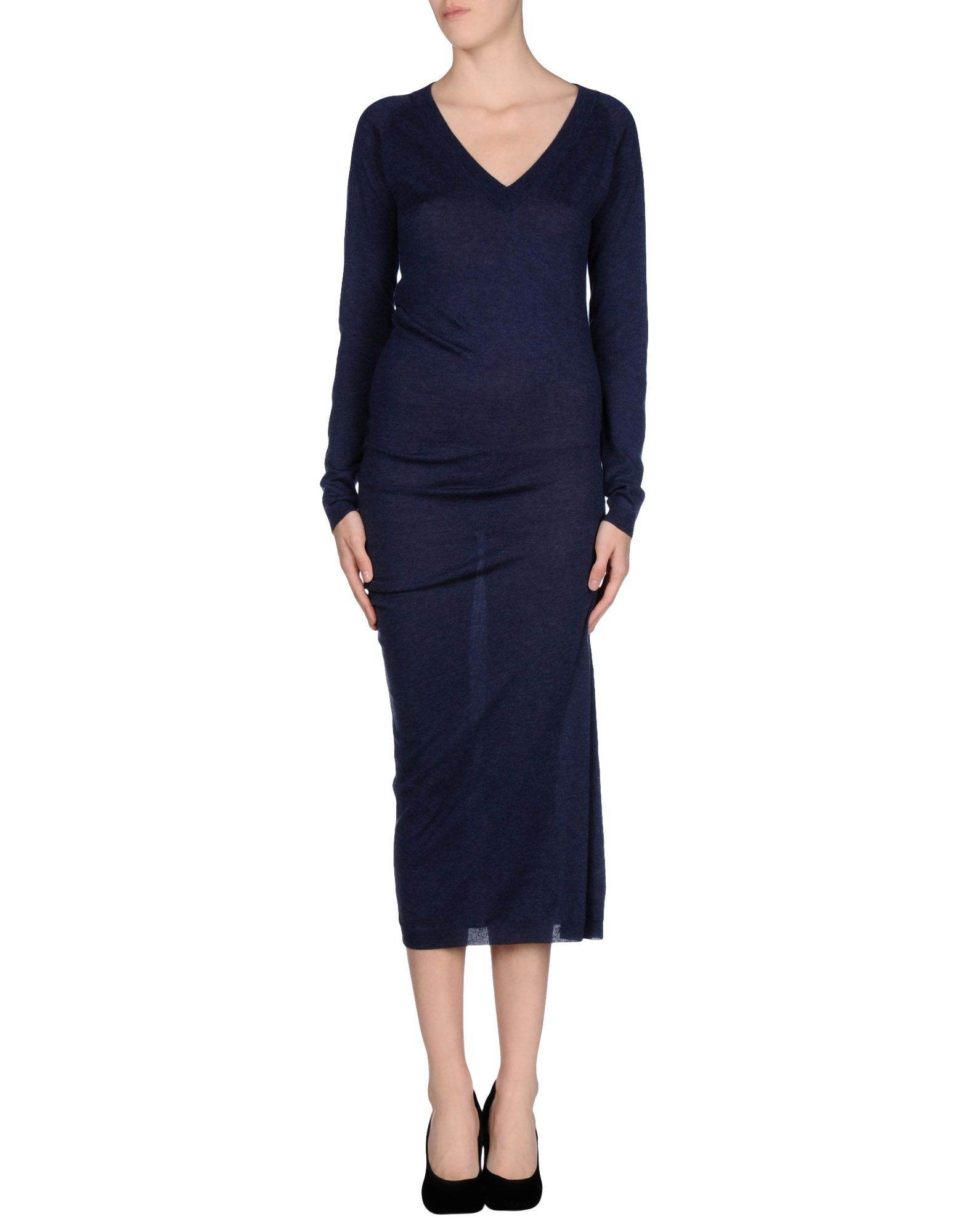 Mm6 by maison martin margiela long dress in blue lyst for Mm6 maison margiela