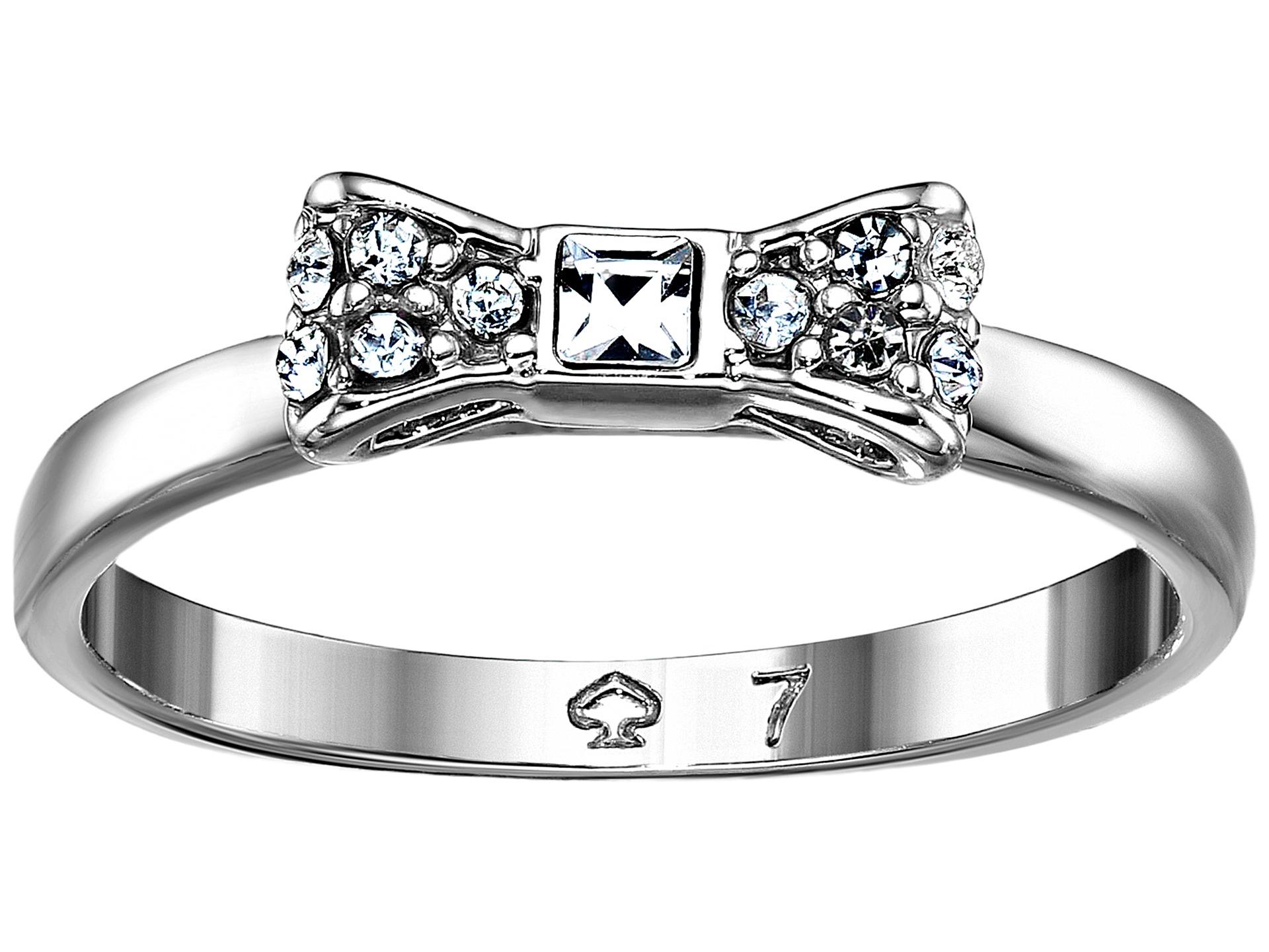 Kate spade new york Ready Set Bow Ring in Metallic