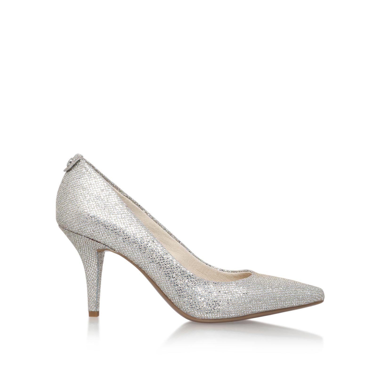 36c5e1a59fb michael kors flex kitten pumps silver ailee suede tall boots ...