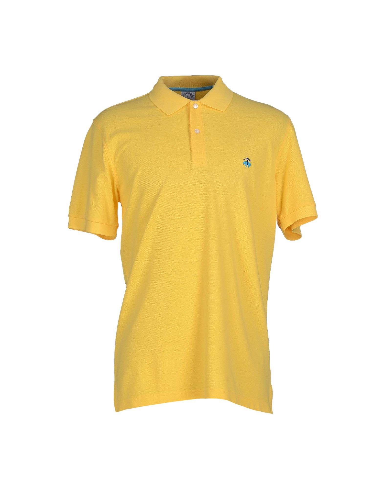 Lyst Brooks Brothers Polo Shirt In Yellow For Men