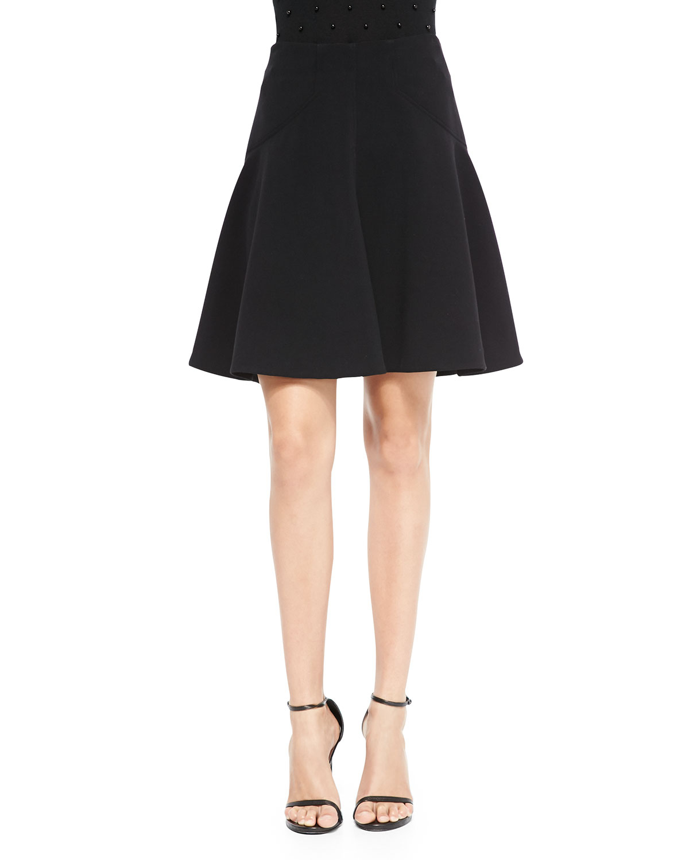 silk trim a line skirt in black lyst