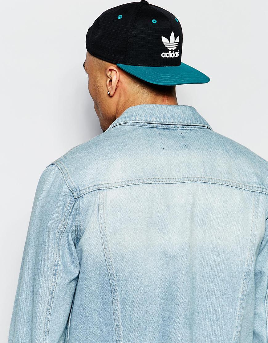 Lyst Adidas Originals Snapback Cap In Black For Men