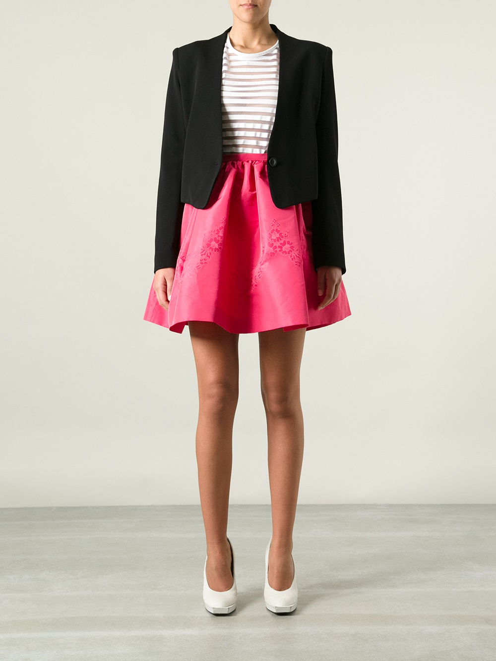 Red Valentino Short Flared Skirt In Pink Lyst