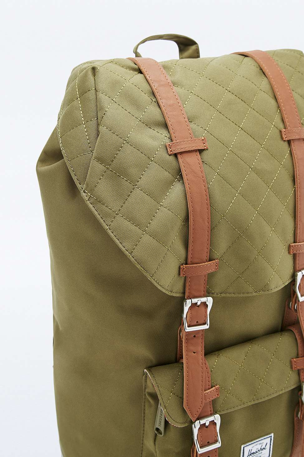a11c5837dc629 Herschel Supply Co. Little America Quilted Army Backpack in Green ...