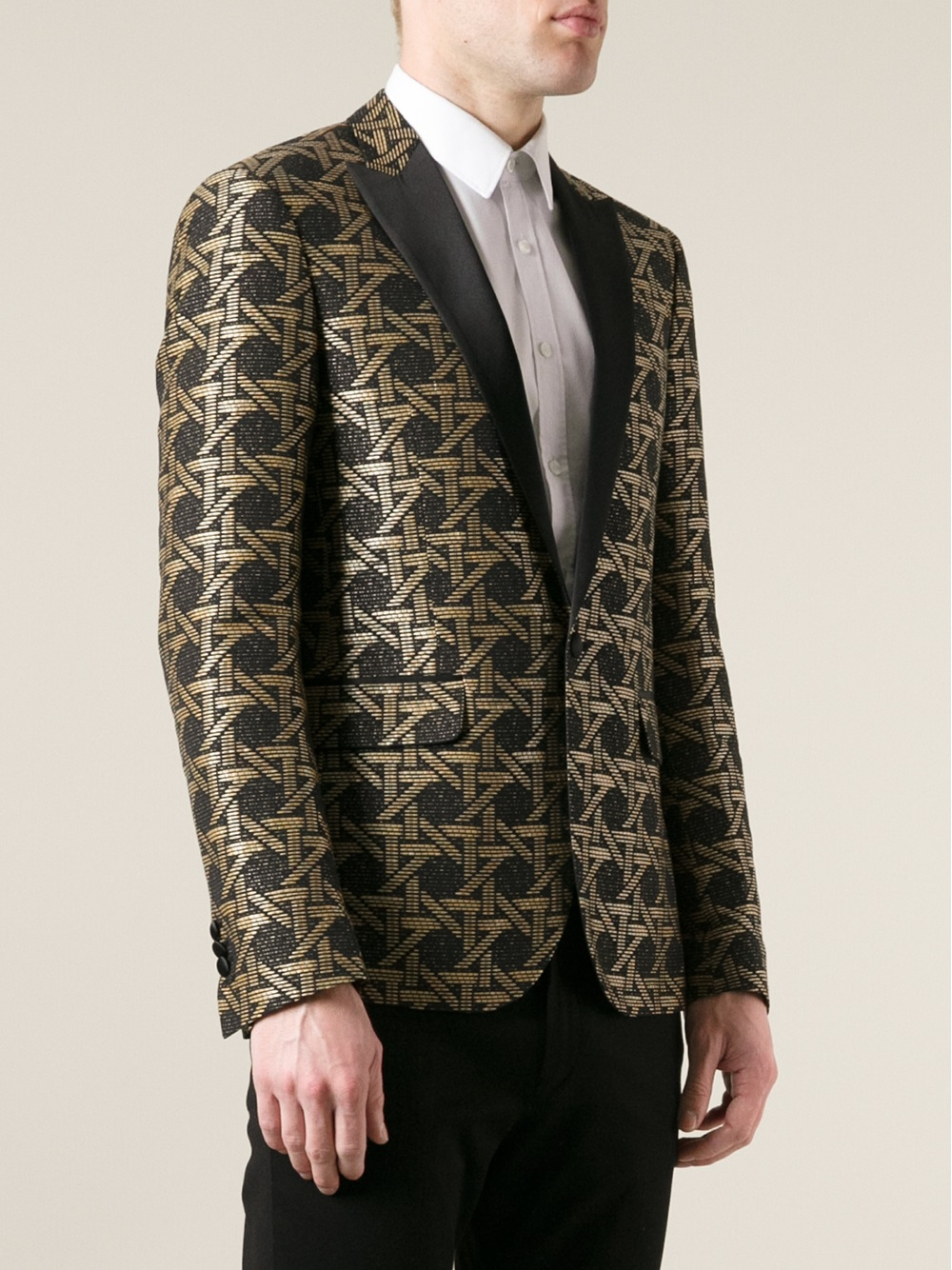 Lyst Dsquared 178 Patterned Blazer In Metallic For Men
