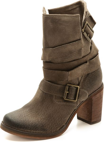 jeffrey campbell france suede boots grey in gray grey lyst. Black Bedroom Furniture Sets. Home Design Ideas