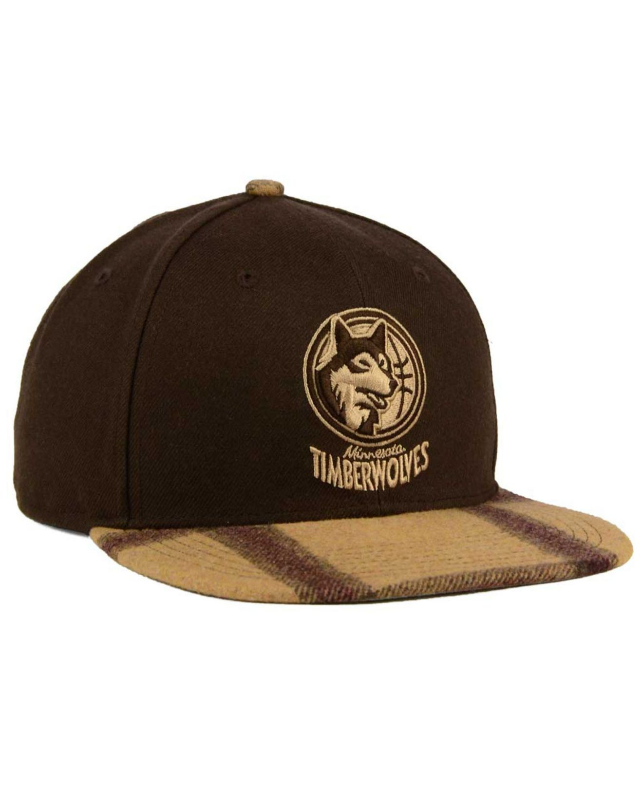 separation shoes 6218e 0ad24 ... discount code for lyst 47 brand minnesota timberwolves alpaca snapback  cap in brown 9dd85 e3bd9